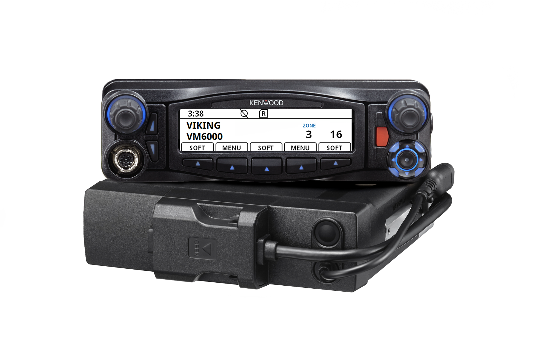 Front view of Viking VM6000 one unit with handheld microphone